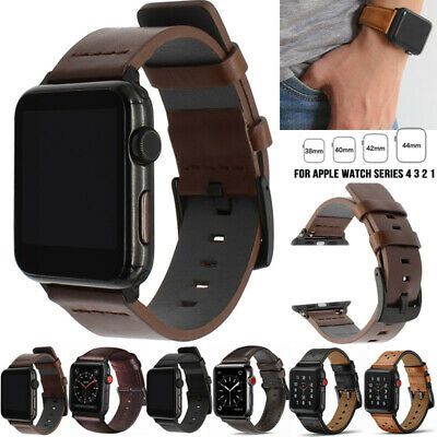 38/42/40/44mm Leather Sports Loop Band Strap For Apple Watch Series 5 4 3 2 1