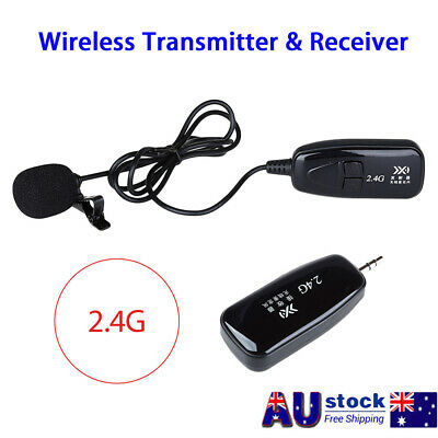 PRO 2.4G Wireless Microphone Lapel-on Voice Amplifier MIC Receiver & Transmitter