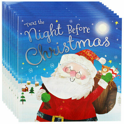 Twas the Night Before Christmas - Pack of 10 Kids Picture Book Bundle, Brand New