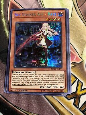 Yugioh Sky Striker Ace – Raye Prismatic Secret Rare MP19 1st Ed Mint