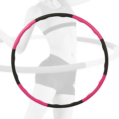 Collapsible Hula Hoop 1KG Weighted Fitness Padded Exercise ABS Gym Workout Hoola
