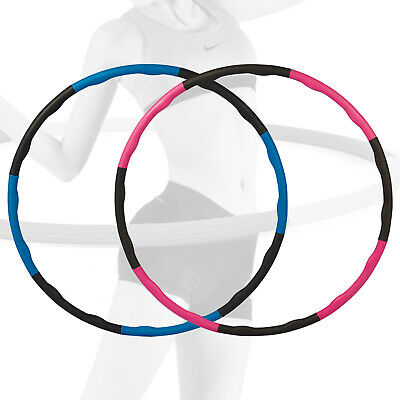 Collapsible 1KG Weighted Hula Hoop Exercise ABS Fitness Padded Gym Workout Hoola