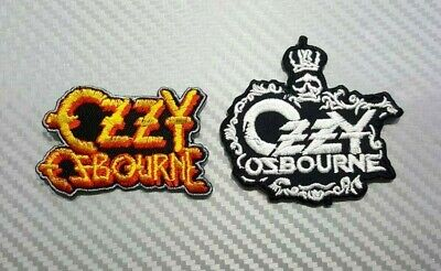 OZZY OSBOURNE ROCK MUSIC METAL BAND PUNK WOVEN Embroidered Patch Iron Sew Logo