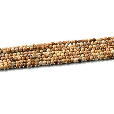 3mm 1PCS Picture Stone Loose Beads Making Jewelry 15 inches Charm Styles Craft