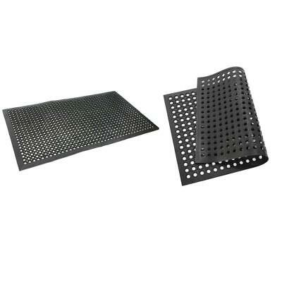 Non-slip Anti Fatigue Rubber Drainage Floor Mat Restaurant Kitchen Bar 2 Size US