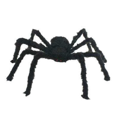200cm Plush Giant Spider Decoration Halloween Haunted House Garden Props Toys