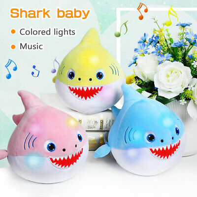 Baby Shark Plush Singing Plush Toys Music Doll LED English Song Toy Kid Gift New