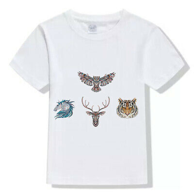 Cool T-shirt Washable Applique 3D Animal Patch Ironing Sticker Heat Transfer