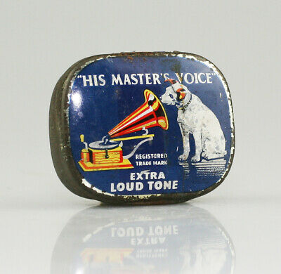 HIS MASTER'S VOICE 'Extra Loud' Gramophone Needle Tin *Text Differences* (AB6)