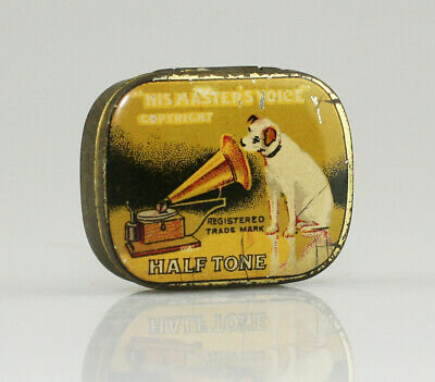HIS MASTER'S VOICE 'Half Tone' Gramophone Needle Tin *Text Differences* (AA103)