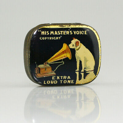 HIS MASTER'S VOICE 'Extra Loud' Gramophone Needle Tin *Text Differences* (AA97)