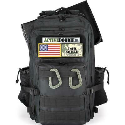 Active Doodie® Dad Diaper Bag Backpack, Tactical Adventure Bag for Dads - Dad Sq