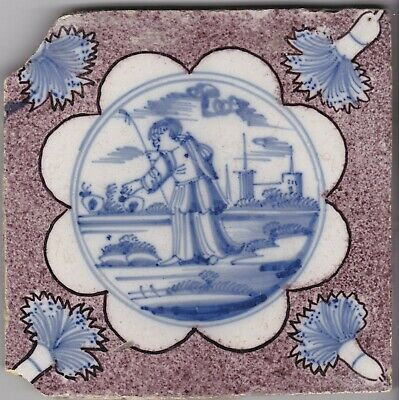 Delft Tile  18th - 19th century   (D 122)