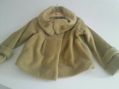 Warm & Cosy Girls Next Green Fleece Lined  Cropped Jacket Age 6