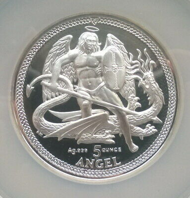 Isle of Man 2013 St.George Kill Dragon NGC PF70 5oz Silver Coin,Proof