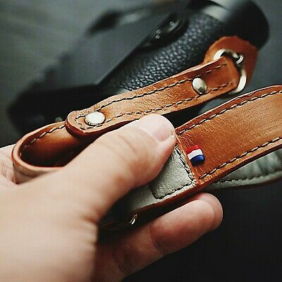 Handmade Leather Camera Wrist Hand Strap For Leica Fuji Sony Olympus Canon Nikon