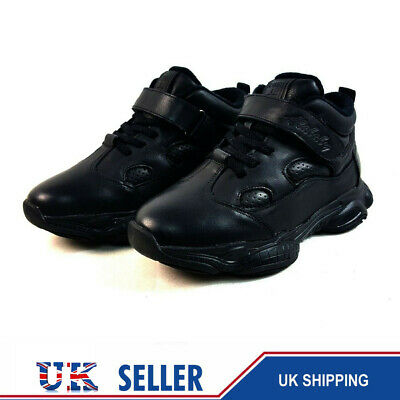 14 Pair Carboot sale Joblot High Quality Real Leather Boys School Black Trainers