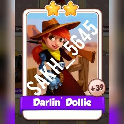 Darlin' Dollie :- Cyber Cowboys card Set :- Coin Master ( Fastest Delivery )