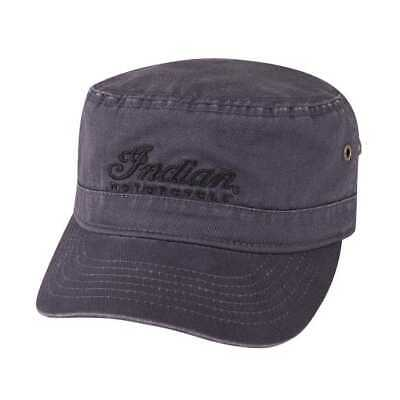 Indian Motorcycle Army Hat with Script Logo, Gray - ONE SIZE