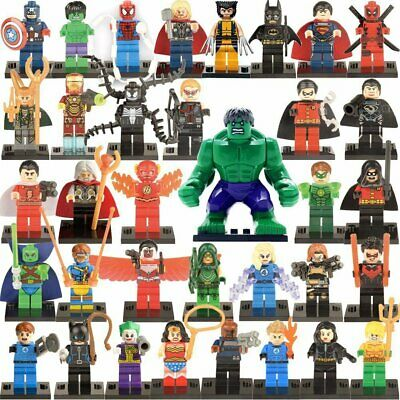 Mini-Figurines Iron Man Thor Hulk Avengers Marvel Batman Superman Dc Comics