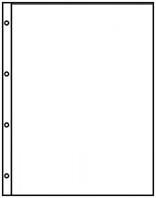 Lindner 8811 Pocket Pages A4 Crystal Clear with 1 Pocket (220 x 300 mm)
