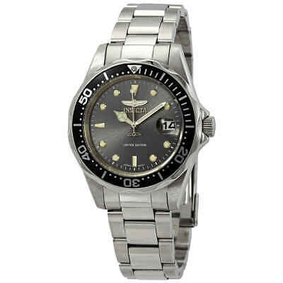 Invicta Pro Diver Charcoal Dial Stainless Steel Men's Watch ILE8932A