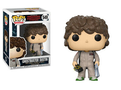 Stranger Things 2nd Season Dustin Ghostbusters POP Figure Toy #549 FUNKO NEW MIB
