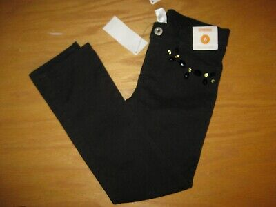 GYMBOREE FANCY DALMATIANS BLACK GEM HEM WOVEN PANTS 18 24 3T NWT