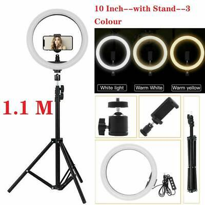 "Ring Light 10"" LED Studio Dimmable Light Photo Video Lamp Kit For Camera Shoot"