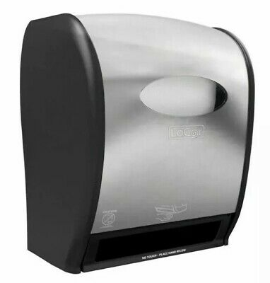 New Solaris Paper LoCor Wall-Mount Electric Paper Towel Dispenser, Stainless