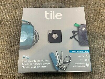 **NEW** Tile Pro Smart Tracker w/ Replaceable Battery Model T6001B - 2 Tile