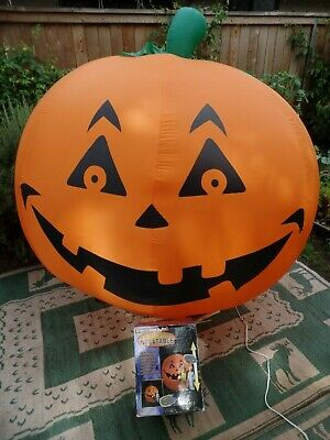 GEMMY HALLOWEEN PUMPKIN 6 ft Airblown air Inflatable Yard Decoration box