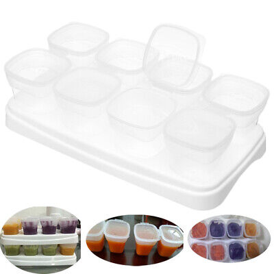Feeding Pot Gruel Storage Freezing Cube Containers 70ml Baby Food Box