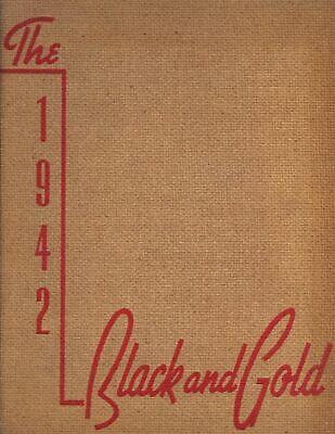 "1942 ""Black & Gold"" - R.J. Reynolds High School Yearbook - Winston-Salem, NC *"