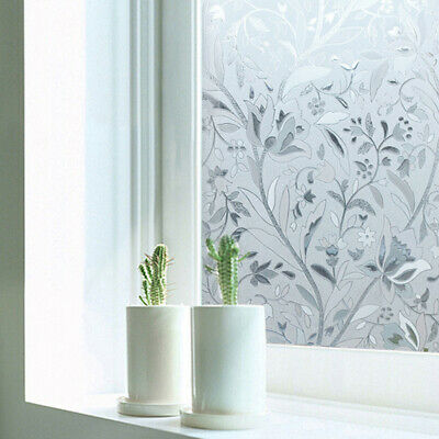 Window Film Sticker Static Removable Privacy Frosted Stained Glass Home Decor