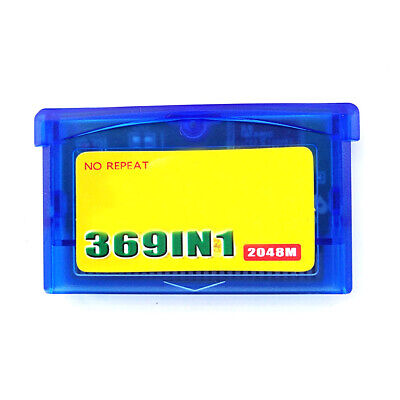369 in 1 in1 GBA Games For Nintendo GBA SP NDS GameBoy Multicart Cartridge