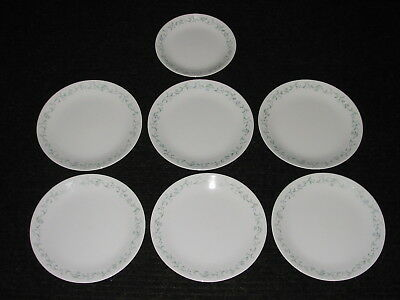 Set Lot 7 Corelle COUNTRY COTTAGE Dinner & Luncheon Plates (blue hearts & green)
