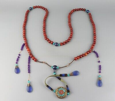 "Chinese Exquisite Handmade agate necklace / ""Chao Zhu"""