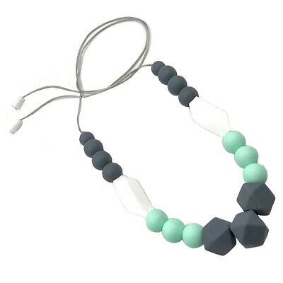 Nursing Bead Pendant Baby Teether Silicone Soother Chew Toy Teething Necklace