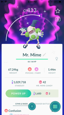 POKEMON GO Shiny Mr. Mime - REGISTERED OR ULTRA FRIENDS