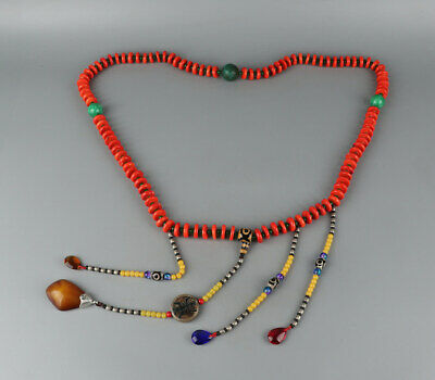 Chinese Exquisite Handmade coral necklace