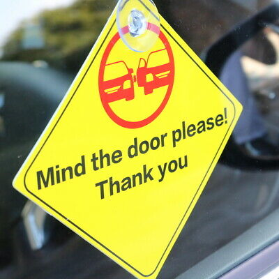 SAFETY WARNING SIGNS Sticker for car window glass wall door