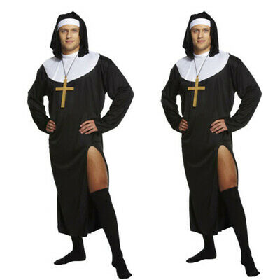 NUN HALLOWEEN PARTY FANCY DRESS UP COSTUME X LARGE HEN NIGHT FREE UK P+P REDUCED