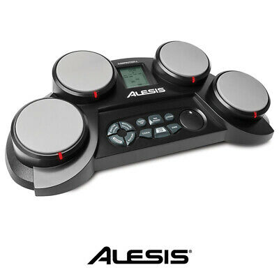 Alesis Compact 4 Tabletop Portable Electronic Drum Kit 4 Pads for Kids