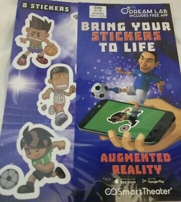 6 Dream Lab Augmented Reality Stickers! Smart Theater Bring Stickers To Life