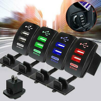Universal Twin Dual Double Port 2 USB 3.1A In Car Socket Lighter Charger Adapter