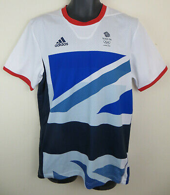 Adidas Olympics London 2012 Team GB Football Shirt Jersey Top Mens Medium 40/42