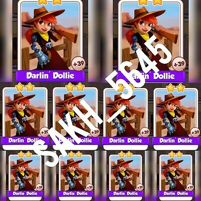 10 x Darlin Dollie :- Cyber Cowboys card Set :- Coin Master ( Fastest Delivery )