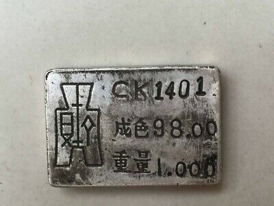 Antique China Old Qing dynasty Handwork Miao silver silver bar