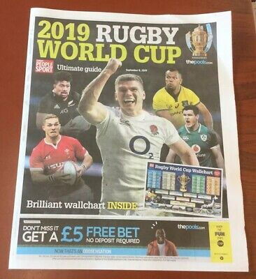 The Sunday People Rugby World Cup Guide.japan 2019 Pullout.new Condition.